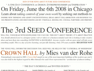 Seed Conference homepage